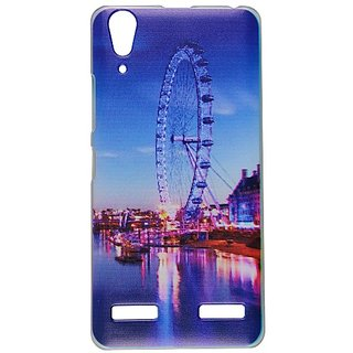 Casotec Clear Sides Print Design Hard Shell Back Case Cover for Lenovo A6000 Plus gz269100