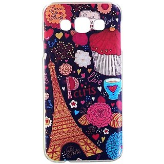 Casotec Clear Sides Print Design Hard Shell Back Case Cover for Samsung Galaxy E5 gz269118