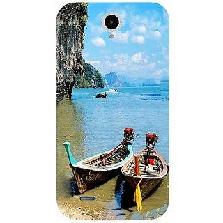 Casotec Sea View Design Hard Back Case Cover for Lenovo A850