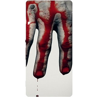 Casotec Hand Blood Brush Scary Design Hard Back Case Cover for Sony Xperia Z3 Plus / Z4