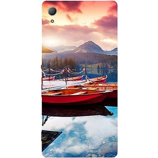 Casotec Sunset Sea Design Hard Back Case Cover for Sony Xperia Z3 Plus / Z4