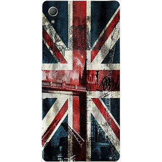 Casotec London Flag wallpaper Design Hard Back Case Cover for Sony Xperia Z3 Plus / Z4