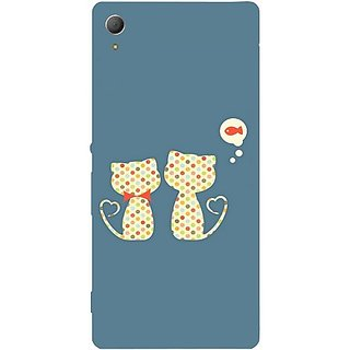Casotec Fish On Mind Print Design Hard Back Case Cover for Sony Xperia Z3 Plus / Z4