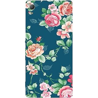 Casotec Vintage Floral Design Hard Back Case Cover for Sony Xperia Z3 Plus / Z4