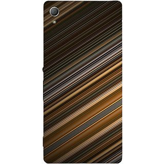Casotec Stripes Design Hard Back Case Cover for Sony Xperia Z3 Plus / Z4