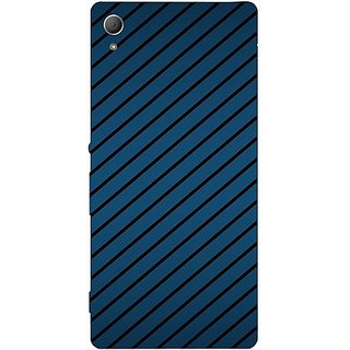Casotec Blue Stripes Design Hard Back Case Cover for Sony Xperia Z3 Plus / Z4