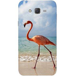 Casotec Egret Bird on Sea Design Hard Back Case Cover for Samsung Galaxy J7