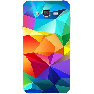 Casotec Colourfull Pattern Design Hard Back Case Cover for Samsung Galaxy J7