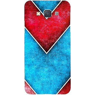 Casotec Line Obliquely Background Design Hard Back Case Cover for Samsung Galaxy A3