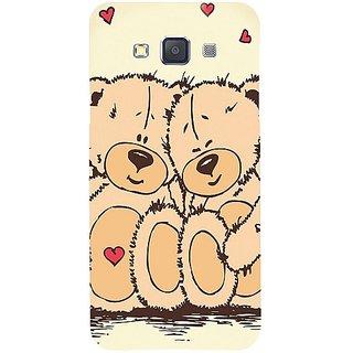 Casotec Teddy Bear Love Design Hard Back Case Cover for Samsung Galaxy A3