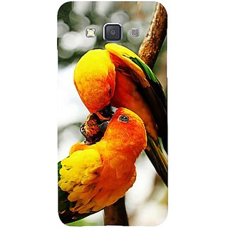 Casotec Love Bards Design Hard Back Case Cover for Samsung Galaxy A3