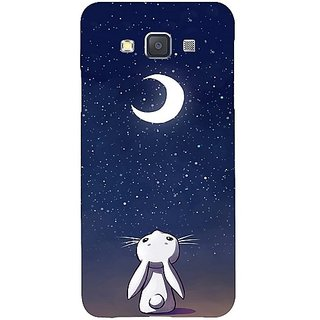 Casotec Moon Bunny Design Hard Back Case Cover for Samsung Galaxy A3