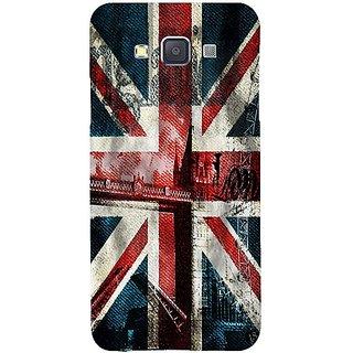 Casotec London Flag wallpaper Design Hard Back Case Cover for Samsung Galaxy A3