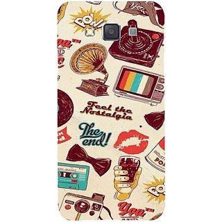 Casotec Vintage Print Design Hard Back Case Cover for Samsung Galaxy A3