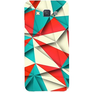 Casotec Red Blue White Pattern Design Hard Back Case Cover for Samsung Galaxy A3