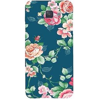 Casotec Vintage Floral Design Hard Back Case Cover for Samsung Galaxy A3