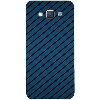 Casotec Blue Stripes Design Hard Back Case Cover for Samsung Galaxy A3