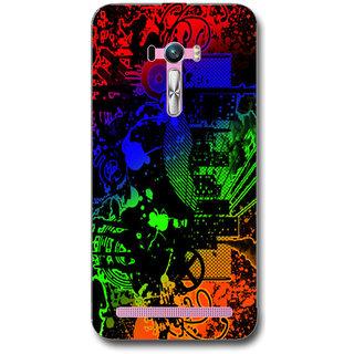 Cell First Designer Back Cover For Asus Zenfone Selfie ZD551KL1-Multi Color