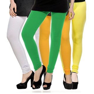 Rummy Cotton Lycra Leggings (Pack of 4) CL4MULTI0028