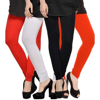 Rummy Cotton Lycra Leggings (Pack of 4) CL4MULTI0019