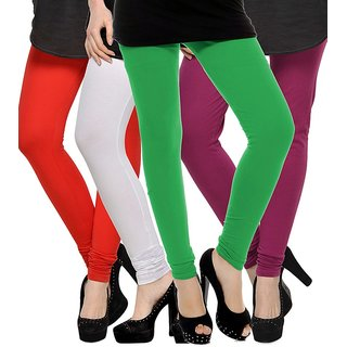 Rummy Cotton Lycra Leggings (Pack of 4) CL4MULTI0018