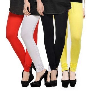 Rummy Cotton Lycra Leggings (Pack of 4) CL4MULTI0017