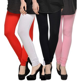 Rummy Cotton Lycra Leggings (Pack of 4) CL4MULTI0030