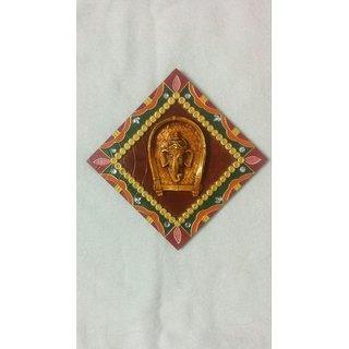 Ganesha Painting in Wood Craft Frame