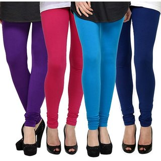 Rummy Cotton Lycra Leggings (Pack of 4) CL4MULTI0213