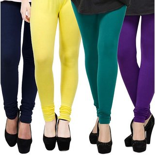 Rummy Cotton Lycra Leggings (Pack of 4) CL4MULTI0212