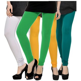 Rummy Cotton Lycra Leggings (Pack of 4) CL4MULTI0408
