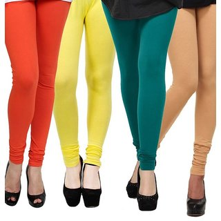 Rummy Cotton Lycra Leggings (Pack of 4) CL4MULTI0318