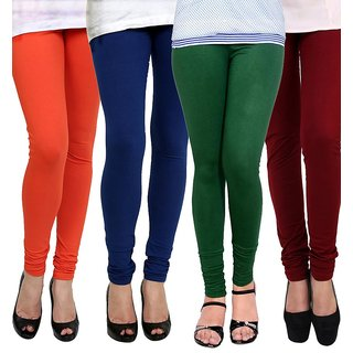 Rummy Cotton Lycra Leggings (Pack of 4) CL4MULTI0406