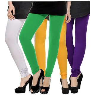 Rummy Cotton Lycra Leggings (Pack of 4) CL4MULTI0478