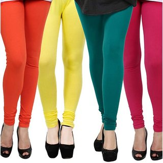 Rummy Cotton Lycra Leggings (Pack of 4) CL4MULTI0430