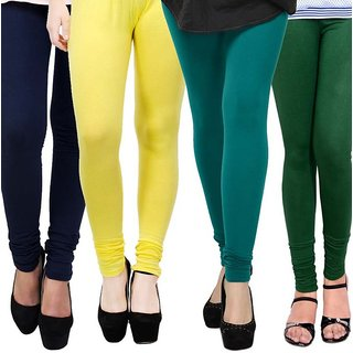 Rummy Cotton Lycra Leggings (Pack of 4) CL4MULTI0215