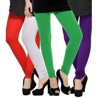 Rummy Cotton Lycra Leggings (Pack of 4) CL4MULTI0315
