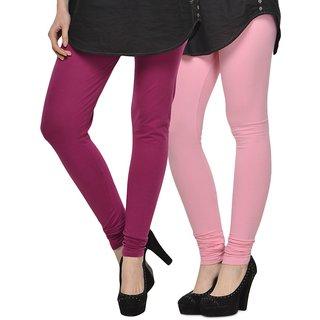 Rummy Cotton Lycra Leggings (Pack of 2) CL2MULTI0082