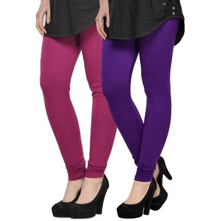 Rummy Cotton Lycra Leggings (Pack of 2) CL2MULTI0429