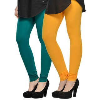 Rummy Cotton Lycra Leggings (Pack of 2) CL2MULTI0499