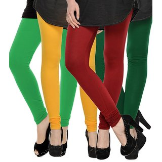 Rummy Cotton Lycra Leggings (Pack of 4) CL4MULTI0479
