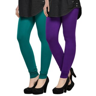 Rummy Cotton Lycra Leggings (Pack of 2) CL2MULTI0453