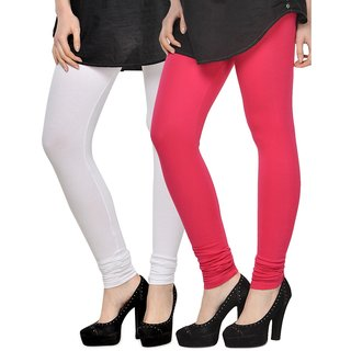 Rummy Cotton Lycra Leggings (Pack of 2) CL2MULTI0080