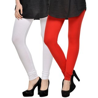 Rummy Cotton Lycra Leggings (Pack of 2) CL2MULTI0095