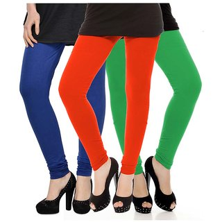 Rummy Cotton Lycra Leggings (Pack of 3) CL3MULTI0063