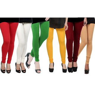Rummy Cotton Lycra Leggings (Pack of 6) CL6MULTI0693