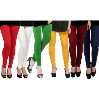 Rummy Cotton Lycra Leggings (Pack of 6) CL6MULTI0677