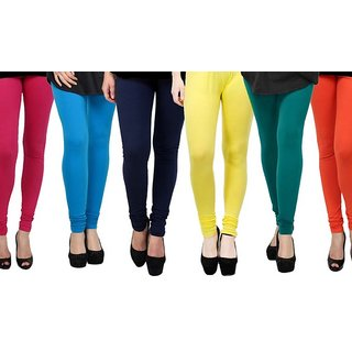 Rummy Cotton Lycra Leggings (Pack of 6) CL6MULTI0589