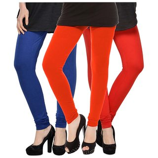 Rummy Cotton Lycra Leggings (Pack of 3) CL3MULTI0064
