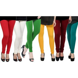 Rummy Cotton Lycra Leggings (Pack of 6) CL6MULTI0618